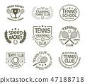 tennis logo racket 47188718