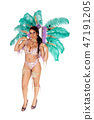 Beautiful woman in a colorful carnival outfit 47191205
