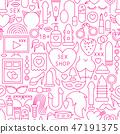 Sex Shop Line Seamless Pattern 47191375
