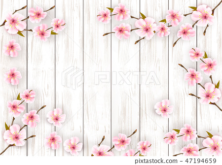 Sakura japan cherry branch with a pink flowers  47194659