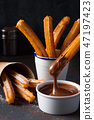 biscuit, chocolate, churros 47197423