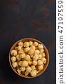 caramel, popcorn, bowl 47197559