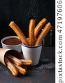 churros, sugar, powder 47197606