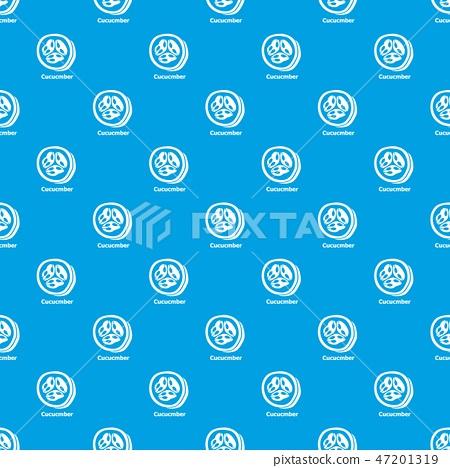 Cucumber pattern vector seamless blue 47201319