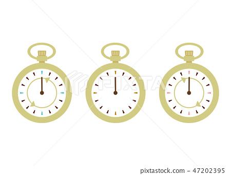 懷錶針反轉,前進,現在,未來 47202395