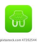 Defibrillator icon green vector 47202544