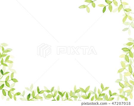 新的綠色水彩背景例證 47207018