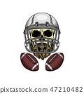 american, football, skull 47210482