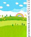 자연 풍경 언덕 산 하늘 콜라주 47211113