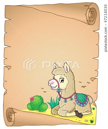 Llama theme parchment 4 47218030