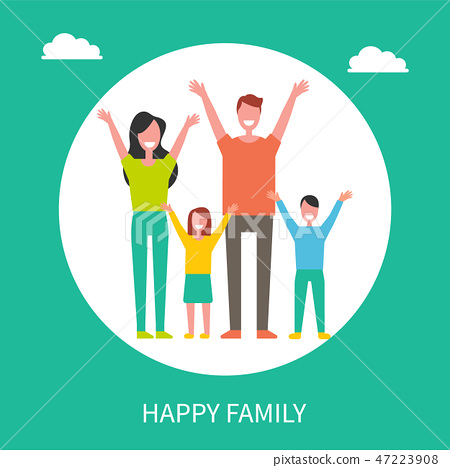 Happy Family Spend Time Together. Mother, Father 47223908