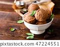 Chocolate ice cream 47224551