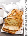 Fruit cake with raisin, sliced fruitcake 47224578