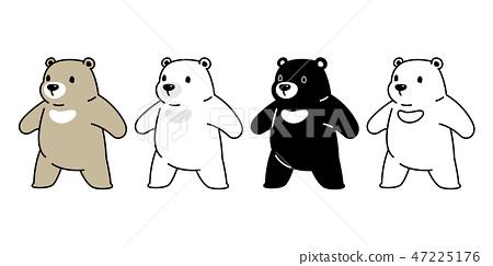 Bear vector Polar Bear cartoon character icon logo 47225176