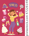 Wedding stress concept. Bride pulling her hair and making a stressful facial expression vector 47226149