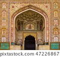 Ganesh Pol entrance in Amber Fort Palace, India 47226867
