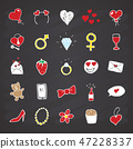 Love and valentine doodle Icons set, vector 47228337
