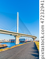 Ayase River and Metropolitan Expressway Katsushika Harp Bridge 47232941