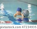아기 수영 47234935