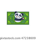 panda sticker emoticon money profit dollar 47238609