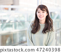 A smiling woman 47240398