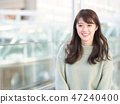 A smiling woman 47240400