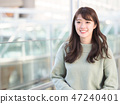 A smiling woman 47240401