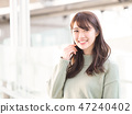A smiling woman 47240402
