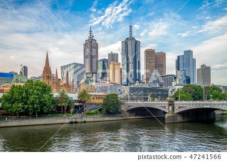 Melbourne city business district (CBD), Australia 47241566