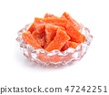 Candied pumpkin Succade isolated on white 47242251