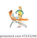 Depilation Procedure in Beauty Salon Cartoon Icon 47243290