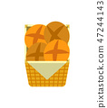 Tasty Buns Fresh Bakery and Pastry Products Vector 47244143