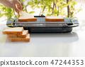 烤面包片机 吐司 食物 47244353