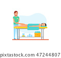Massage Therapy Foot Treatment by Masseuse Vector 47244807