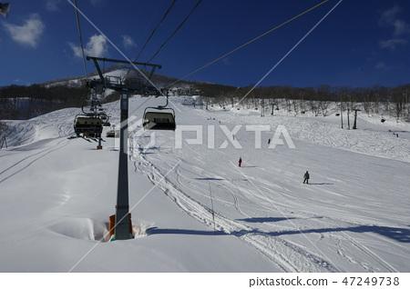 Giant course lower part of the Murao Kogen ski resort 47249738