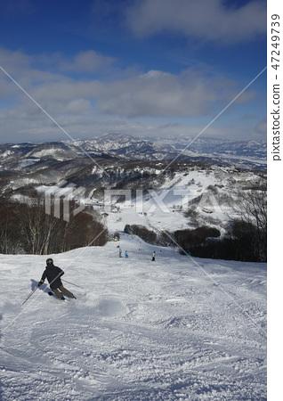 Murao Kogen滑雪勝地的巨型路線上部 47249739