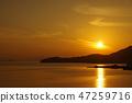Sunset of Shodoshima Island 47259716