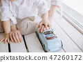 mother baby boy playing window hugging warmly 47260172