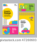 layout design template, cover book 47260603