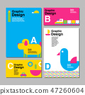 layout design template, cover book, colorful 47260604