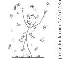 money, banknote, man 47261436
