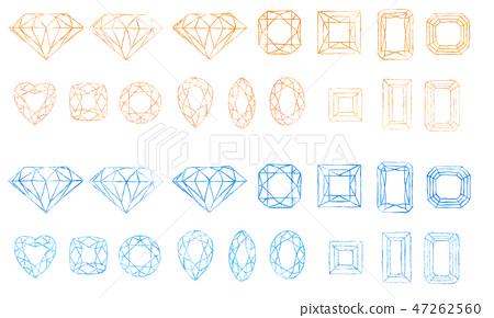 寶石(橙色和藍色) 47262560