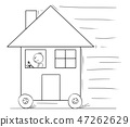 house, driving, building 47262629