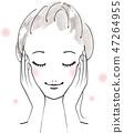 女性面部要做護膚 47264955