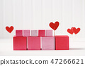 Pink and red blocks with hearts 47266621