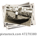 Stack of old vintage photos in Venice Italy 47270380