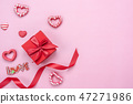 Table top view of decoration valentine's day. 47271986