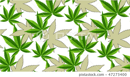 Marijuana Leaves Seamless Vector Pattern Stock Illustration 47273400 Pixta