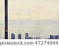 home building in the city watercolor illustration  47274044