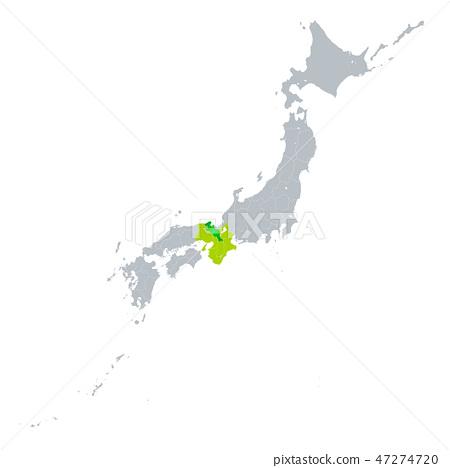Kyoto Prefecture Map 47274720